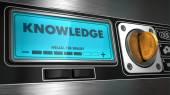 Knowledge on Display of Vending Machine. — Stock Photo
