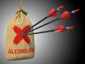 Alcoholism- Arrows Hit in Red Mark Target. — Stok fotoğraf