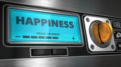 Happiness on Display of Vending Machine. — Stock Photo