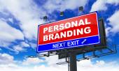 Personal Branding on Red Billboard. — Stock Photo