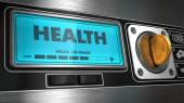 Health on Display of Vending Machine. — Stockfoto