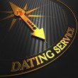 Dating Service - Golden Compass Needle. — Stock Photo #56725725