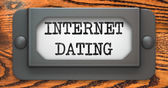 Internet Dating - Concept on Label Holder. — Stock Photo