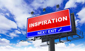 Inspiration Inscription on Red Billboard. — Stock Photo
