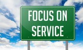 Focus on Service - Highway Signpost. — Stock Photo
