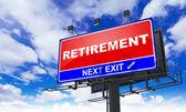 Retirement Inscription on Red Billboard. — Stock Photo