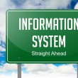 Information System on Highway Signpost. — Stock Photo #56849327