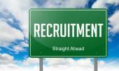 Recruitment on Highway Signpost. — Stock Photo