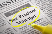 Snr Product Manager Vacancy in Newspaper. — Stock Photo