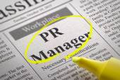 PR Manager Vacancy in Newspaper. — Stock Photo