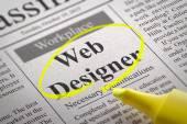 Designer Coder Jobs in Newspaper. — Stock Photo