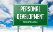 Personal Development on Highway Signpost. — Stock Photo