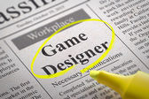 Game Designer Jobs in Newspaper. — Stockfoto