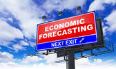 Economic Forecasting Inscription on Red Billboard. — Stock Photo