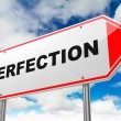 Perfection on Red Road Sign. — Stock Photo #57088053