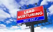 Lead Nurturing on Red Billboard. — Stock Photo