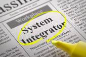 System Integrator Vacancy in Newspaper. — Stock Photo