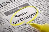 Senior Art Designer Vacancy in Newspaper. — Stock Photo