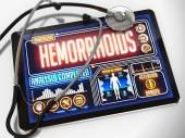 Hemorrhoids on the Display of Medical Tablet. — Zdjęcie stockowe