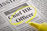 Chief HR Officer Vacancy in Newspaper. — Stock Photo