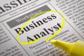 Business Analyst Vacancy in Newspaper. — Stock Photo