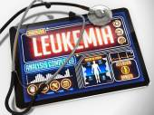 Leukemia on the Display of Medical Tablet. — Stock Photo