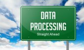 Data Processing on Highway Signpost. — Stock Photo