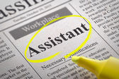 Assistant Jobs in Newspaper. — Stock Photo