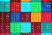 Lots of Colorful Cargo Containers. — Stok fotoğraf
