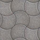 Decorative Wave Gray Figured Pavement. — Stock Photo