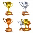 Contest Concepts - Colorful Trophy Cups of 3D Illustrations. — Stock Photo #57096849
