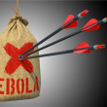 Ebola - Arrows Hit in Target. — Stock Photo #57615461