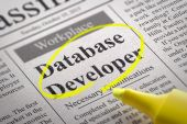Database Developer Vacancy in Newspaper. — Stock Photo