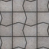 Gray Pavement  Slabs in the Polygonal Shape. — Stock Photo