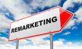 Remarketing on Red Road Sign. — Stockfoto