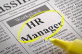 HR Manager Vacancy in Newspaper. — Stock Photo