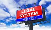 Legal System Inscription on Red Billboard. — Stock Photo