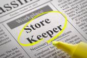 Store Keeper Vacancy in Newspaper. — Stock Photo