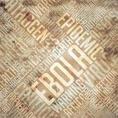 Ebola - Grunge Beige Word Collage. — Stock Photo