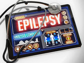 Epilepsy on the Display of Medical Tablet. — Stock Photo