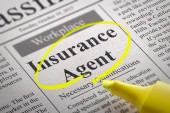 Insurance Agent Vacancy in Newspaper. — Stock Photo