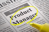 Product Manager Vacancy in Newspaper. — Stock Photo