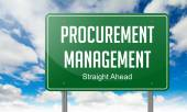 Procurement Management on Highway Signpost. — Stock Photo