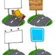 Road Sing Concepts - Set of 3D Illustrations. — Stok fotoğraf #58014197