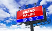 Brand Value on Red Billboard. — Stock Photo