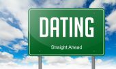 Dating on Highway Signpost. — Stock Photo