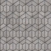 Openwork Gray Pavement Slabs. — Stock Photo