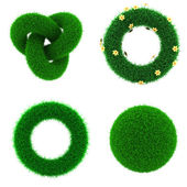 Decor Elements of Green Grass. — Stock Photo