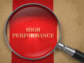 High Perfomance - Magnifying Glass on Old Paper. — Stock Photo