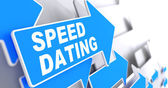 Speed Dating on Direction Arrow Sign. — Stock Photo